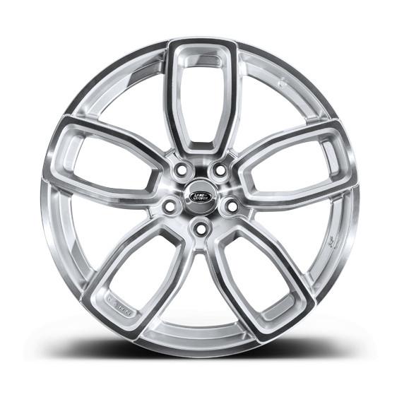 """Kahn Zestaw felg 600 LE Diamond Silver 23"""" Range Rover Sport 2013"""