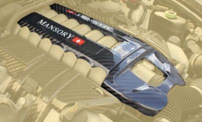 Mansory Środkowa pokrywa silnika Cayenne 958 2015