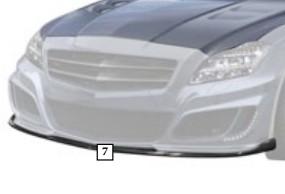 Mansory Przedni spoiler CLS C218