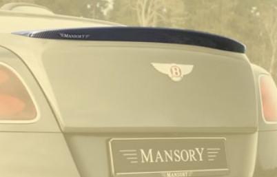 Mansory Tylny spoiler Continental GT, GTC 2016