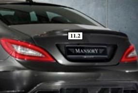 Mansory Tylny spoiler CLS C218