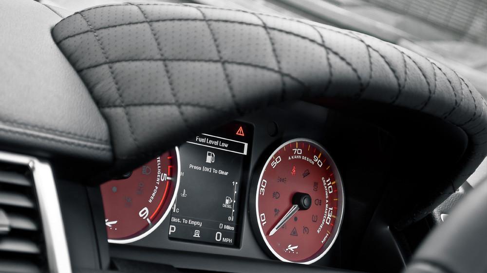 Kahn Skórzany daszek zegarów Range Rover Sport 2009