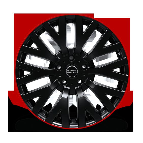 """Kahn Zestaw felg RS Matt Black / Red 20"""" Evoque"""