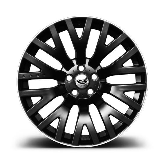 """Kahn Zestaw felg RS Matt Black & White 22"""" Range Rover Sport 2009"""