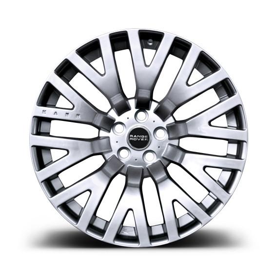 """Kahn Zestaw felg RS Silver 22"""" Range Rover 2009"""