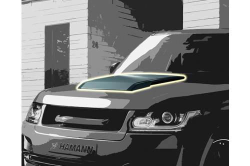 Hamann Wlot powietrza na masce Range Rover 2013