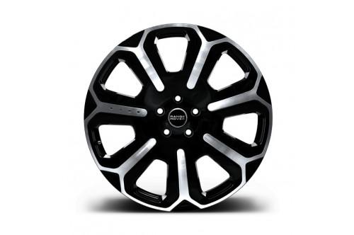 """Kahn Zestaw felg Dark Mist RRS Black Polished 22"""" Range Rover Sport 2009"""
