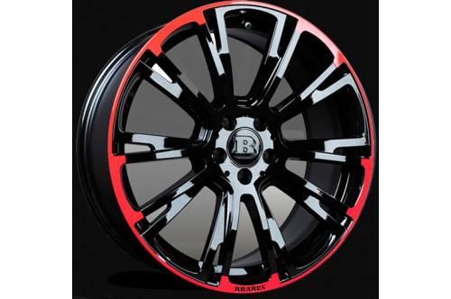 """Brabus Felga Monoblock R Red/Black 19"""" GL X166"""