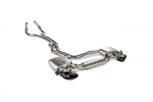 Akrapovic Sportowy układ wydechowy z klapami RS6 C8