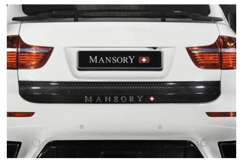 Mansory Tylna listwa X6 E71